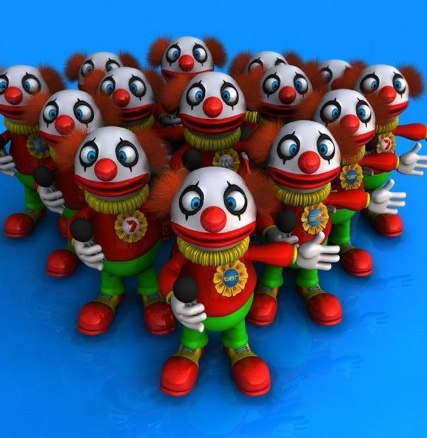 Figurines clowns Ba827ab8
