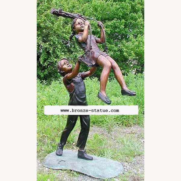 STATUE DE BRONSE ENFANTS 37